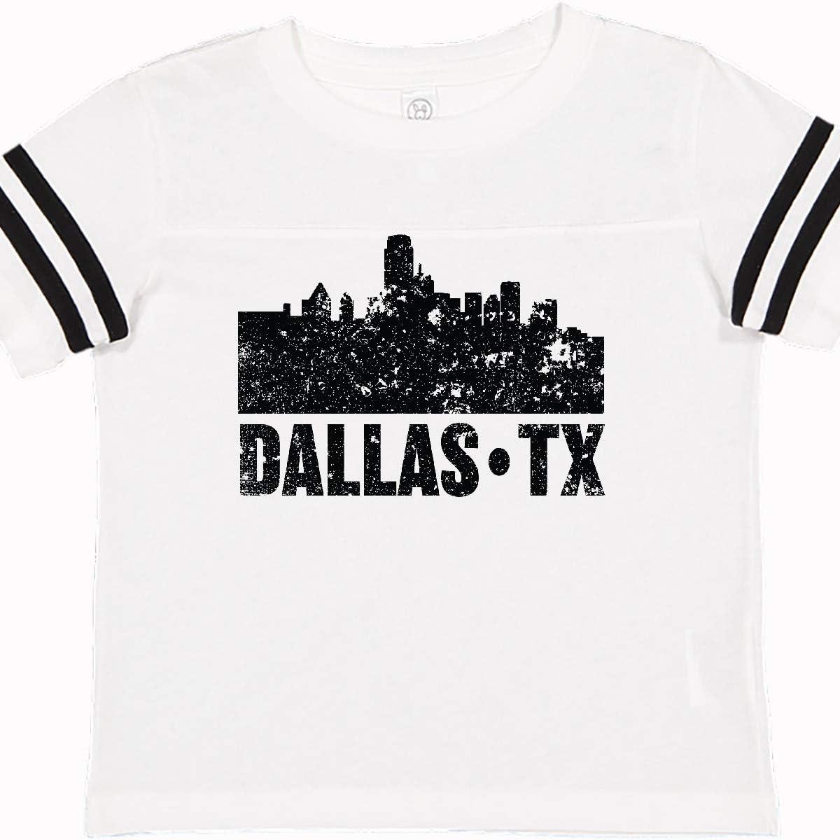 Dallas Toddler Shirt Retro Style Dallas Texas Skyline Toddler T-Shirt