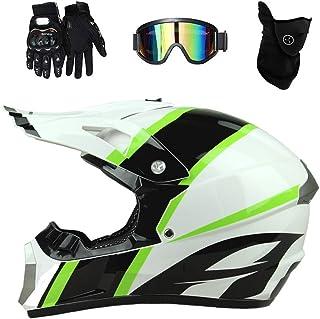 <h2>Qlkx Motorradhelm, Crosshelm Herren Extremsport ATV Dirt Bike MX BMX DH Racing Offroad Helm, Motocross Integralhelm,b,XL</h2>