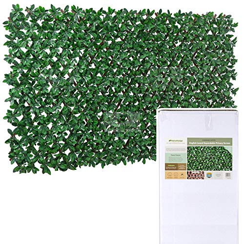 NatraHedge Artificial English Laurel Leaf Expandable Lattice Privacy Fence Screen