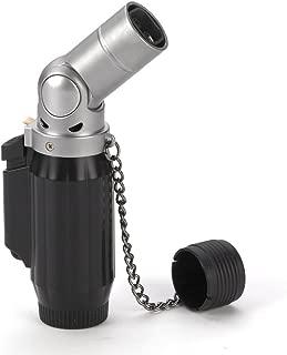 Vertigo Intimidator Quad Torch Lighter - Black Matte & Brushed Chrome
