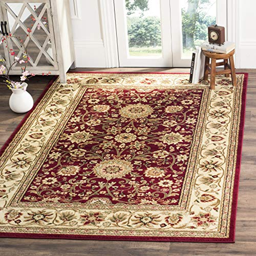 """Safavieh Lyndhurst Collection LNH212F Traditional Oriental Red and Ivory Rectangle Area Rug (8'11"""" x 12')"""