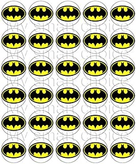 image relating to Batman Cupcake Toppers Printable identified as : Batman - Cake Cupcake Toppers / Bash Materials