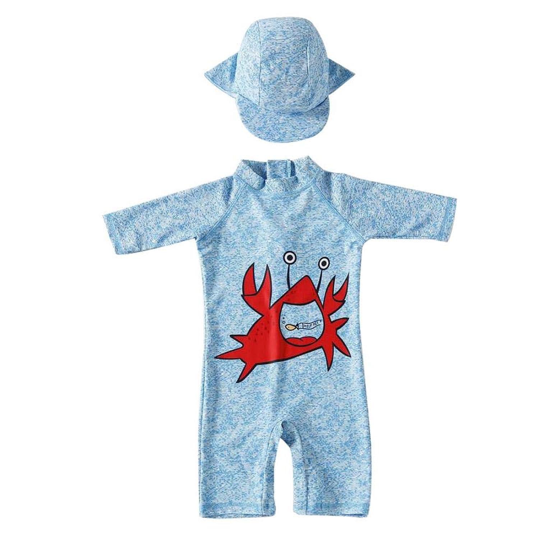 Getupp 水着 子供 男の子 2-8歳 伸縮性 通気性 スイムウェア 入園 入学 紫外線カット 海辺 海水浴 プール 旅行 (ライトブルー,5t)