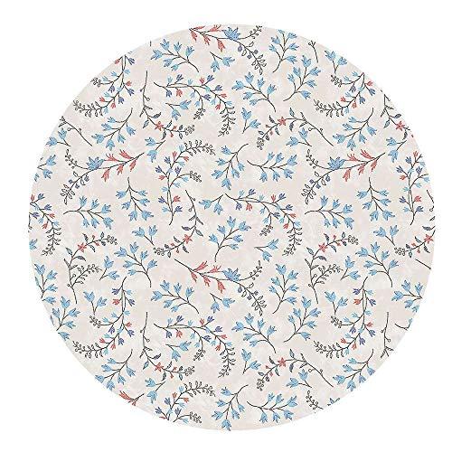 DecoHomeTextil Wachstuchtischdecke Wachstuch Tischdecke Gartentischdecke Rund Oval Zweige Rund 120 cm abwaschbare Wachstischdecke