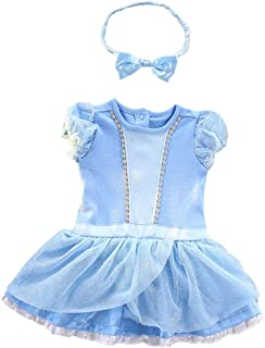 Baby Girls Mermaid Costume Snow White Anna Elsa Outfit