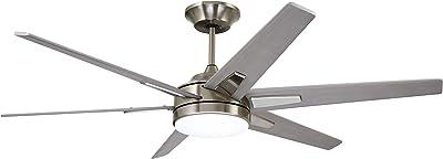 "Emerson CF915TM60BS 60"" Rah Eco Ceiling-Fans, Brushed Steel"