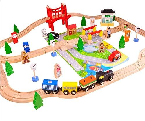Yyz Track série Jouets éducatifs pour Enfants en Bois Belle Ville Piste Train démontage Couture Jouets pour Enfants Puzzle Cadeau d'anniversaire