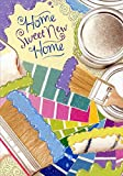 Paint Brushes and Rollers with Glitter - Designer Greetings New Home Card