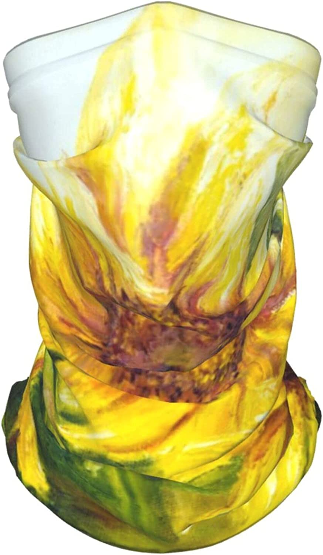Sunflower Flower1 Neck Gaiter Multipurpose Headwear Ice Silk Mask Scarf Summer Cool Breathable Outdoor Sport 2 Pcs
