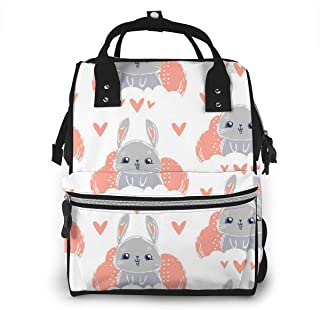Bunny Cute Multi-Function Travel Backpack Nappy Bag,Fashion Mummy Bag
