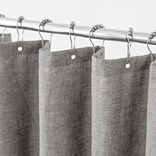 Aimjerry Grey Heavy Duty Fabric Shower Curtain for Bathroom, Washable 72x72 inc