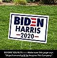 "ITC Biden/Harris for President 2020 Yard Signs with H-Frames 12""x18"" (Harris Logo)"