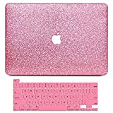 B BELK MacBook Pro 16 Inch Case 2021 2020 2019 Release A2141, Sparkly PU Leather Crystal Smooth Slim Hard Case with Keyboard Cover Compatible with Apple MacBook Pro 16'' with Touch Bar & Touch ID