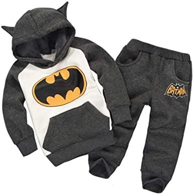 Kids Batman Tracksuit Set Boys Girls Hoodie Pullover Sweatshirt Top+Pants Outfit