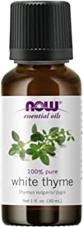 NOW Essential Oils, White Thyme Oil, Empowering Aromatherapy Scent, Steam Distilled, 100% Pure, Vegan, Child Resistant Cap...