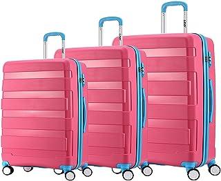 "LGO Unbreakable Travel Luggage 3PCS Set Suitcases TSA Lock Spinner Wheels Lightweight(20""24""30"")"