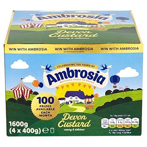 Ambrosia Devon Custard 4 X 400 G (Packung mit 2)