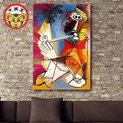 WLYUE DIY Pintura por Números Pint por Número de Kits for Adultos Mayores Avanzada Niños Joven, Pintura Abstracta del Arte de Picasso