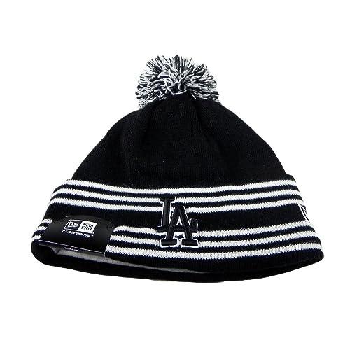 88185ee231c85 New Era Los Angeles Dodgers Beanie MLB Sport Knit Headwear Men Size Hat Pom  Pom