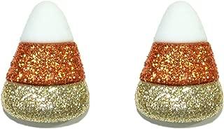 candy corn stud earrings