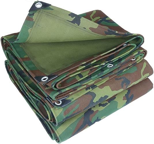 HQCC Couverture de bache de camouflage grande tente imperméable à l'eau en plein air imperméable robuste tente auvent auvent pare-soleil bache de prougeection bache au sol armée camouflage