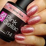 Pink Gellac 141 Glitter Pink - Rosa Esmalte en Gel Permanente