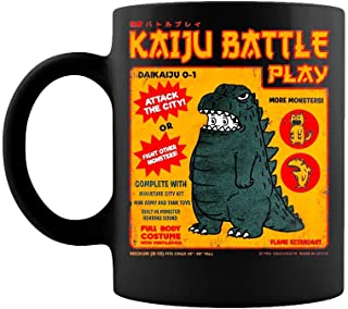 Best Kaiju Battle Play by Pigboom Kaboom Coffee Mug Gift Coffee Mug 11OZ Coffee Mug