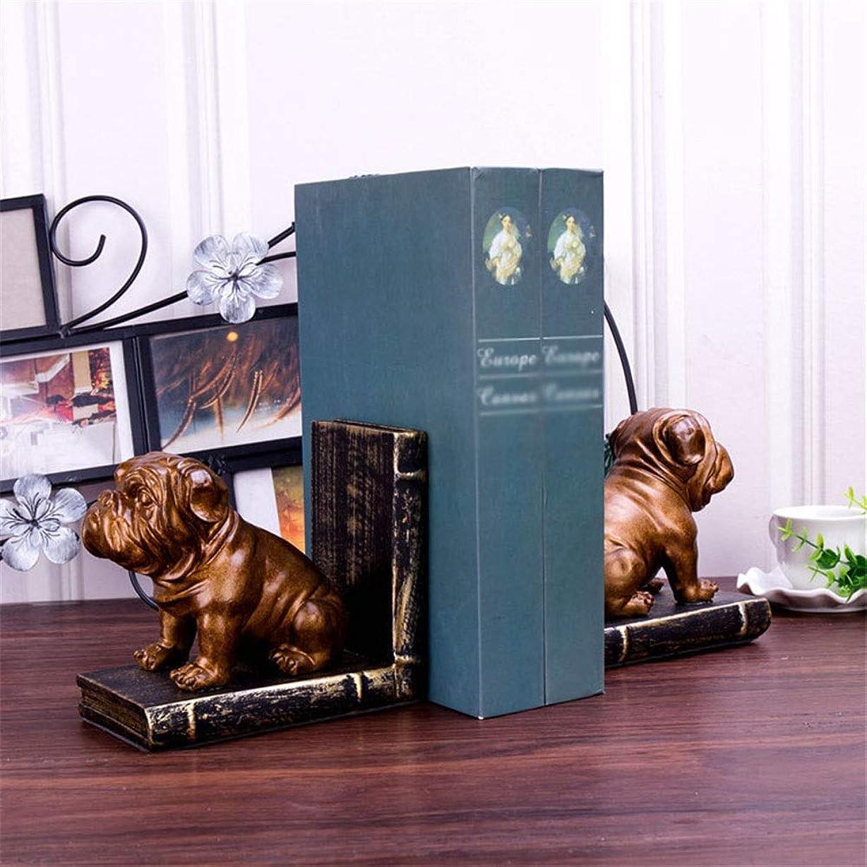 引き受ける部門空白ブックエンド レトロな子犬ブックエンド?ビレッジブックスタンドクリエイティブ研究本棚オフィスホームソフト装飾飾りデコレーション ブックエンド樹脂 (Color : B, Size : 32cmx9cmx14cm)