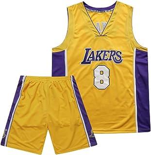 Lakers 8# Men Basketball Set, Retro Commemorative Jersey, Breathable/Wearable Basketball Swingman Edition Jersey Shorts,XXXL
