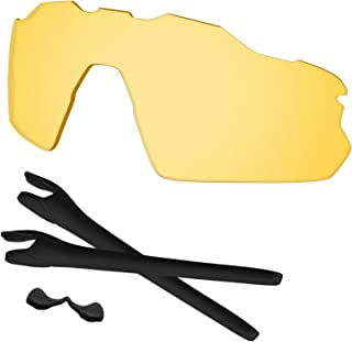Predrox Radar EV Pitch Lenses & Rubber Kits Replacement for Oakley Sunglass OO9211 Polarized