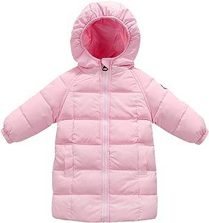 Baby Kids Hooded Long Coat Winter Down Windproof Jacket Outerwear