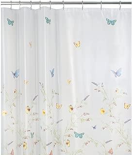 Maytex Garden Flight PEVA Shower Curtain(Butterfly), Multi