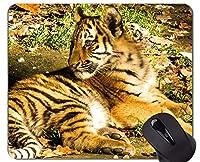 母虎と彼女の赤ちゃんマウスパッド、動物オフィスマウスパッド