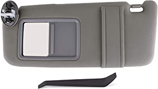 UNIGT Sunroof Version Sun Visor Assemby Replaces for 2007-2011 Toyota Camry/Hybrid Drivers Left Sunvisor Replaces Part # 74320-06800-B0 with Vanity Light Control - Gray (Gray)