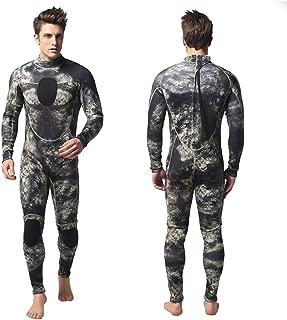 WINBST Trajes de Neopreno de una Pieza para Hombre de 3MM Buceo Trajes de Surf de natación Traje de baño Completo cálido Traje húmedo para Todos los Deportes acuáticos