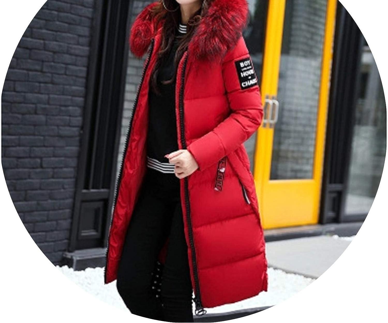 Winter Women Cotton Down Jacket Hoodie Long Parkas Warm Jackets Winter Coat