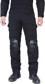 Yingsssq BOLAWOO Pantalón de Caza para Hombre Airsoft Multicam Pantalones Kneepad táctico con Combate con Bolsillos
