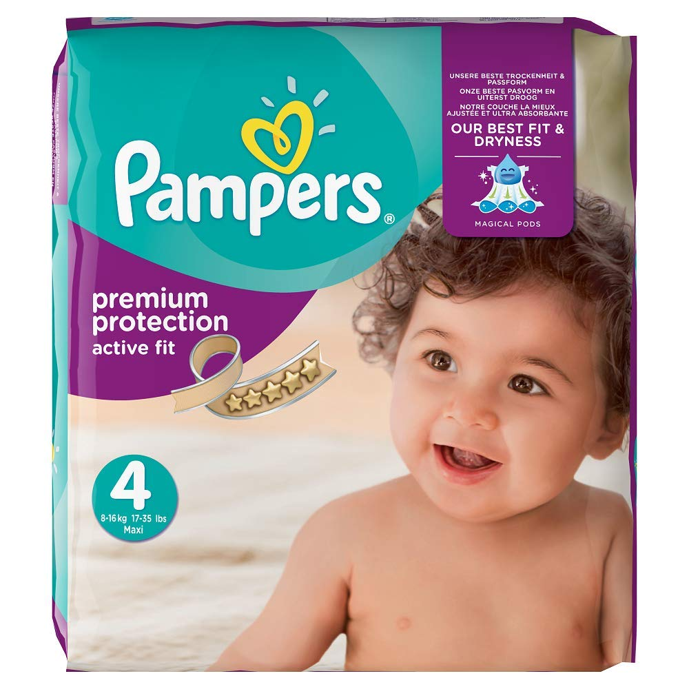 Pampers Premium Protection Nappies x 168 Nappies NEW 9-14kg Size 4