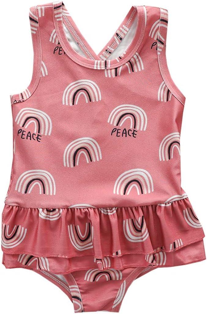 Shan-S Max 84% OFF Toddler Baby Girls Wholesale Summer Cartoon Sleeveless Print Swimsu