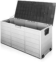Gardeon Outdoor Storage Box 290L Waterproof UV Block Lockable Deck Box Storage Cube Cabinet Container with Wheels Handle L...