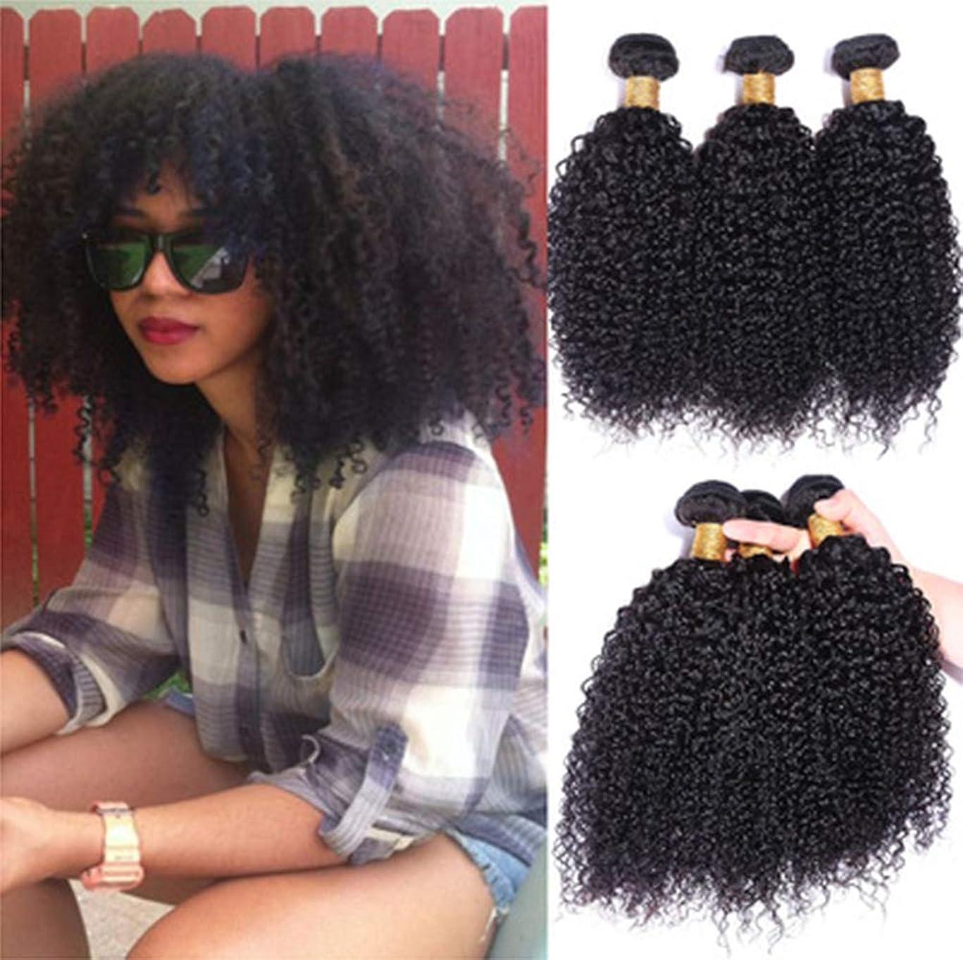 南アメリカ甘やかすセットする女性髪織り150%密度毛ブラジル巻き毛織り1バンドル8aグレードバージンレミー毛延長未処理
