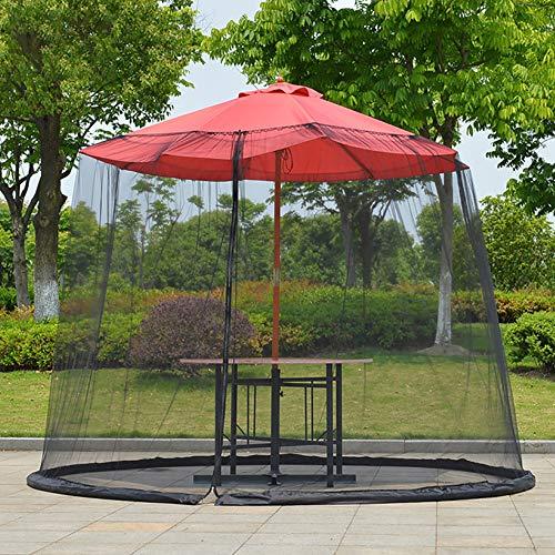 CHHD Red de sombrilla de jardín Pantalla de Mesa de sombrilla al Aire Libre Mosquitero Insecto Insecto para la Mesa de terraza Sombrilla de jardín Muebles de terraza Jardín Cubierta de Malla