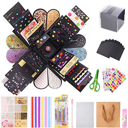 Viesap Creative Explosion Box,Caja de Regalo DIY Álbum de Fotos Hecho a Mano.9 PCS Álbum de Fotos de Amor Memoria Scrapbooking.para Cumpleaños,Boda,día de San Valentín,Aniversario,Navidad.