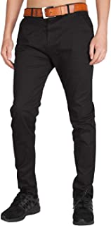 I.TALYMORN Men's Chino Flat Front Casual Pants 36 Black