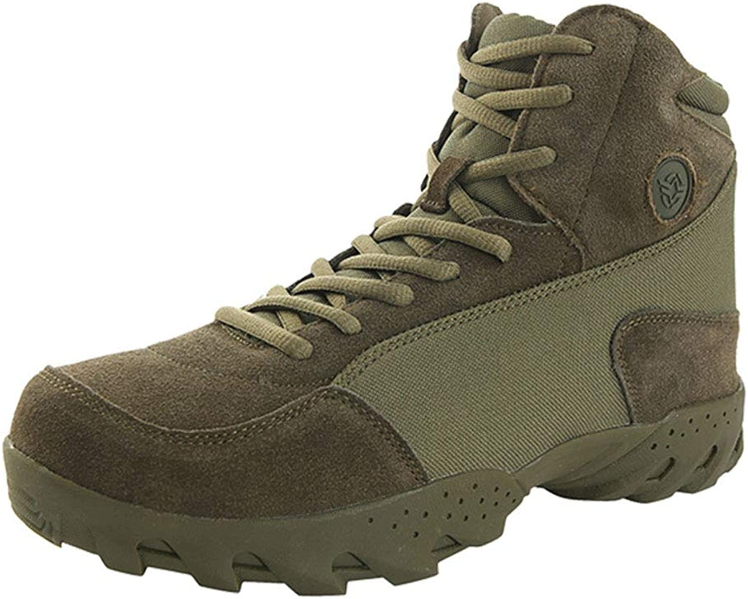 Tlgf Men's High Rise Walking Boots,Hiking shoes,Northwest Territory,Breathable, Soft, Comfortable,Green