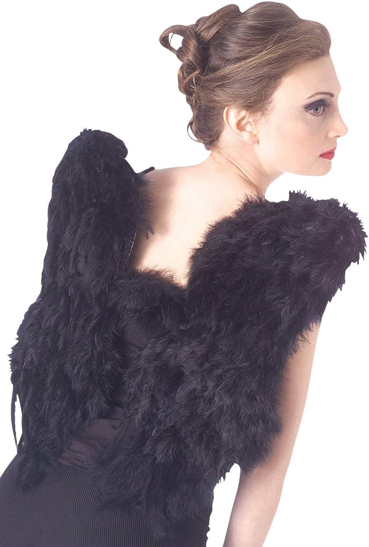 Rubies Black Feather Angel Fairy Wings Fancy Dress Costume