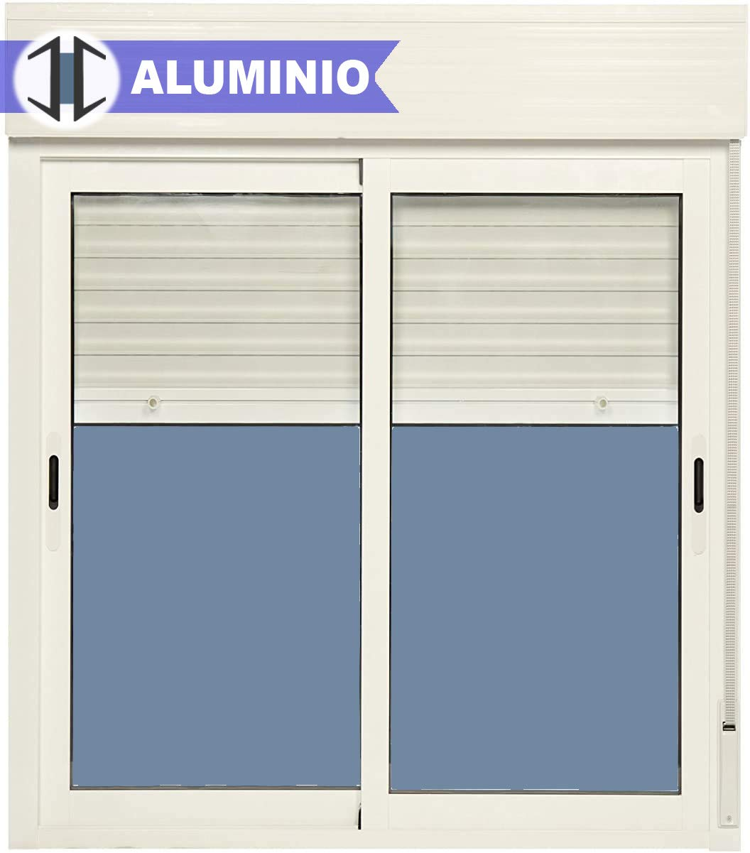 Ventana Aluminio Corredera Con Persiana PVC 1000 ancho × 1150 alto ...