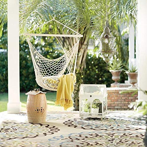 CHENTAOCS Nordic Style Round Hangstoel Safety Opknoping Muur Hang Swing Rope Outdoor Indoor Garden hangstoel Seat for Kind Volwassen