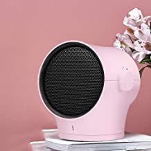 Calefactor Bajo Consumo Grande,Calefactor Bajo Consumo Ceramico,Frío Y Cálido,Puede Sacudir La Cabeza,Bajo Ruido,Carcasa De Material Ignífugo,Se Puede Utilizar En El Dormitorio Y La Oficina,Pink