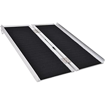 "Goplus® Multi-Fold Aluminum 3' Non-Skid Wheelchair Ramp Mobility Scooter Mobility Ramp (3' x 30"")"